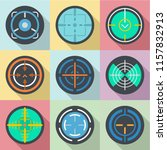 aimed fire icons set. flat set... | Shutterstock .eps vector #1157832913
