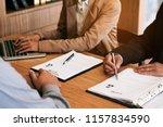 examiner reading a resume...   Shutterstock . vector #1157834590