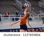 girl volleyball player spiking... | Shutterstock . vector #1157834806