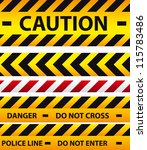 caution  danger  and police... | Shutterstock .eps vector #115783486