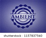ambient emblem with jean... | Shutterstock .eps vector #1157837560