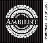 ambient silver emblem or badge | Shutterstock .eps vector #1157840329