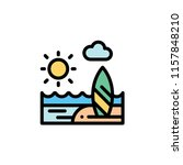 nature landscape flat icon | Shutterstock .eps vector #1157848210