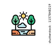 nature landscape flat icon | Shutterstock .eps vector #1157848219