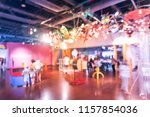 blurred kids and parents... | Shutterstock . vector #1157854036
