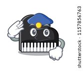 police piano character cartoon... | Shutterstock .eps vector #1157856763