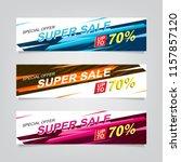 vector abstract web banner... | Shutterstock .eps vector #1157857120
