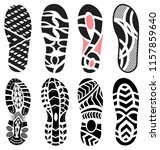 footprint  shoes big vector... | Shutterstock .eps vector #1157859640