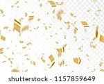 falling shiny golden confetti... | Shutterstock .eps vector #1157859649