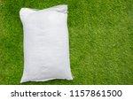 fertilizer and soil white bag... | Shutterstock . vector #1157861500