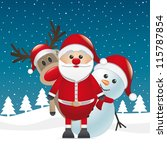 reindeer red nose land snowman... | Shutterstock .eps vector #115787854