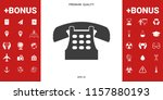 retro telephone icon | Shutterstock .eps vector #1157880193