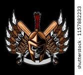 spartan baseball team logo... | Shutterstock .eps vector #1157882233