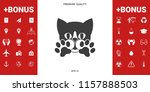 cute cat  paws   logo  symbol ... | Shutterstock .eps vector #1157888503