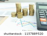 coin income in business on... | Shutterstock . vector #1157889520