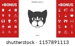 cat   logo  protect sign icon | Shutterstock .eps vector #1157891113