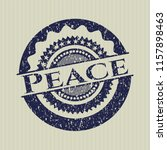 blue peace grunge seal | Shutterstock .eps vector #1157898463