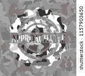 approachable grey camo emblem | Shutterstock .eps vector #1157903650