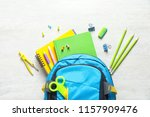 flat lay composition with... | Shutterstock . vector #1157909476