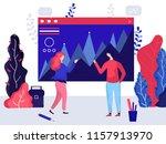 vector illustration. teamwork.... | Shutterstock .eps vector #1157913970