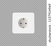 Socket on transparent background. Vector Illustration. - stock vector