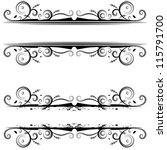 an image of a spiral banner... | Shutterstock .eps vector #115791700