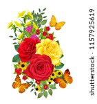 flower composition. a bouquet... | Shutterstock . vector #1157925619