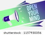 word writing text open your... | Shutterstock . vector #1157930356