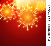 beautiful vector fireworks on... | Shutterstock .eps vector #115793284