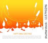 vector colorful happy diwali... | Shutterstock .eps vector #115793296