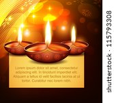 vector diwali diya on stylish... | Shutterstock .eps vector #115793308