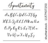 hand drawn vector alphabet.... | Shutterstock .eps vector #1157937253