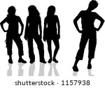 females with attitude   vector | Shutterstock .eps vector #1157938