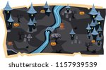 halloween 2d game maps and... | Shutterstock .eps vector #1157939539