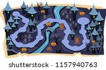 halloween 2d games maps with... | Shutterstock .eps vector #1157940763
