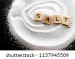 salt background   salt is an... | Shutterstock . vector #1157945509