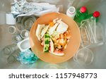 trash box container for recycle ... | Shutterstock . vector #1157948773