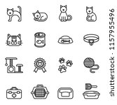 cat icon set with white... | Shutterstock .eps vector #1157955496