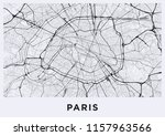 light paris city map. road map...   Shutterstock . vector #1157963566