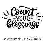 count your blessing phrase ... | Shutterstock .eps vector #1157968009