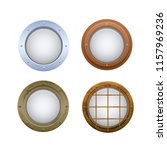 set of realistic round oval... | Shutterstock .eps vector #1157969236