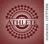 athlete retro red emblem   Shutterstock .eps vector #1157973346