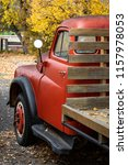 Antique Red Pick Up Truck With...