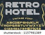 vintage font handcrafted vector ... | Shutterstock .eps vector #1157981389