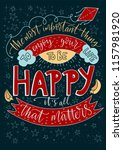 positive inspirational vector... | Shutterstock .eps vector #1157981920