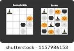 sudoku game with halloween... | Shutterstock .eps vector #1157986153