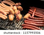 delicious grilled sausages | Shutterstock . vector #1157993506