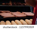 delicious grilled sausages | Shutterstock . vector #1157993509