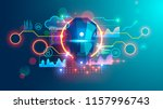 artificial intelligence banner. ... | Shutterstock .eps vector #1157996743