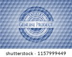 genuine product blue emblem... | Shutterstock .eps vector #1157999449